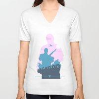 gta V-neck T-shirts featuring GTA V - MICHAEL DE SANTA by ahutchabove