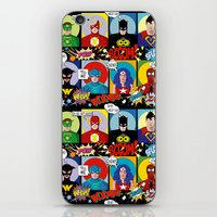 superheroes iPhone & iPod Skins featuring Superheroes by Chicca Besso