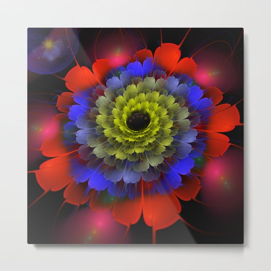Cosmic dream flower Metal Print