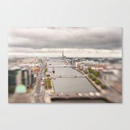 Dublin city center aerial view Canvas Print