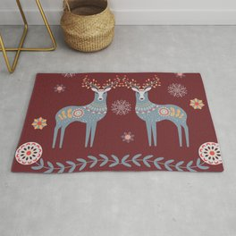 Nordic Winter Red Rug