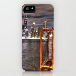 A Long Exposure of Chicago Skyline iPhone Case