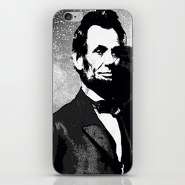 ABRAHAM LINCOLN MORE MUSIC LESS WAR iPhone Skin