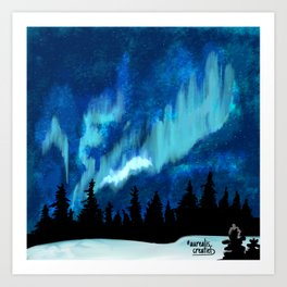 Northern Lights in Canada Art Print