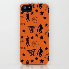 Slam Dunk Basketball Orange and Black iPhone Case