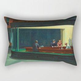 Nighthawks by Edward Hopper, 1942 Rectangular Pillow