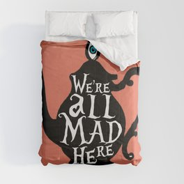 """""""We're all MAD here"""" - Alice in Wonderland - Teapot - 'Mad Hatter Melon' Comforters"""