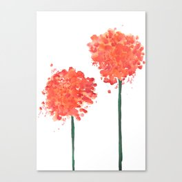 2 abstract geranium flowers Canvas Print