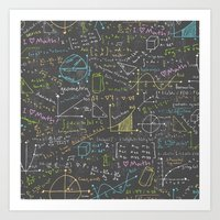 math Art Prints featuring Math Lessons by robyriker