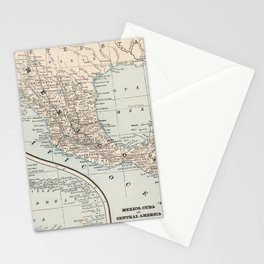 Vintage Map of Mexico (1893) Stationery Cards