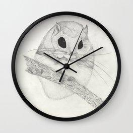 Fuzzball-white Wall Clock