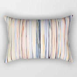 pastel abstract striped pattern Rectangular Pillow