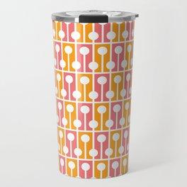 Geometric Pattern 192 (pink orange) Travel Mug