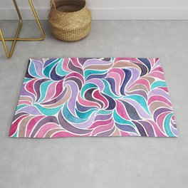 Currents - Aqua Rose Rug