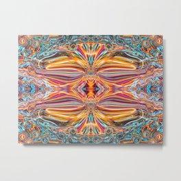 Digital Art: Abstract Dancing Metal Print