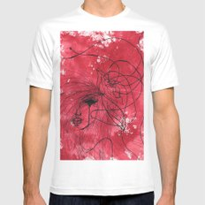 The Mean Reds White Mens Fitted Tee MEDIUM