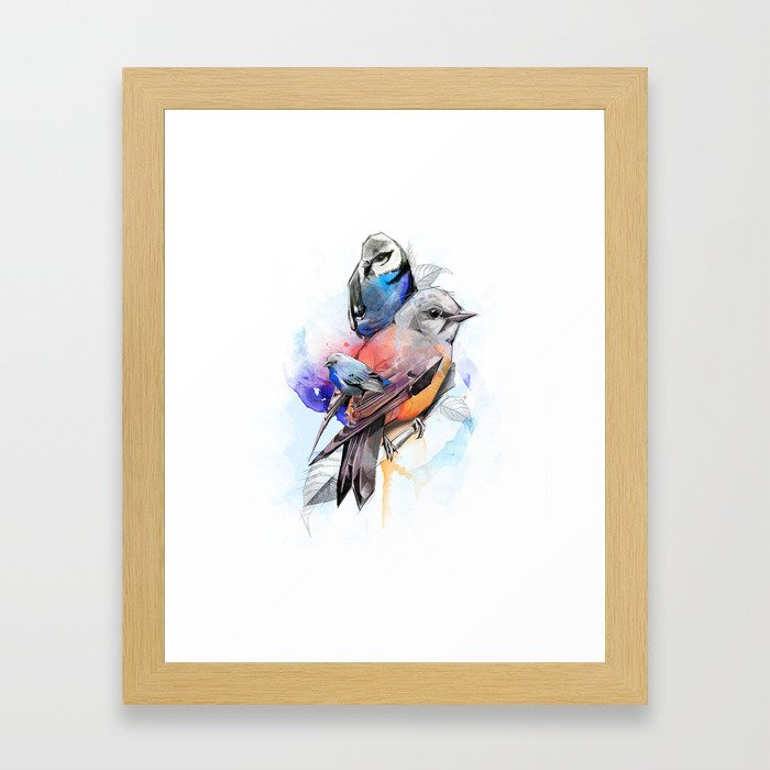 Bird Drawing Framed Art Print