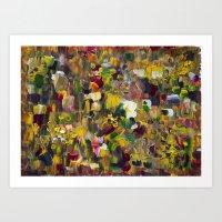 gustav klimt Art Prints featuring Fantasy about Gustav Klimt by Lucid Infinity Art and Design