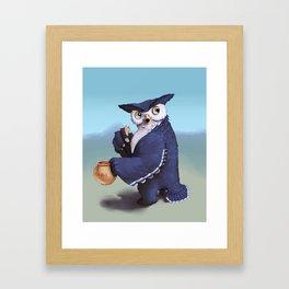Monster of the week: Tufted Owl Beast Framed Art Print