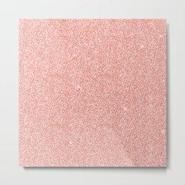 Rose Gold Glitter Metal Print