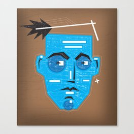 Primitive Face Canvas Print