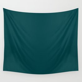 Deep Turquoise - Pure And Simple Wall Tapestry