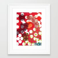 polka dot Framed Art Prints featuring Polka-Dot by Liz Belen