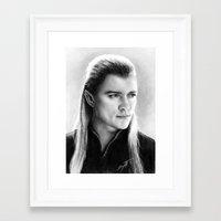 legolas Framed Art Prints featuring Legolas by AnastasiumArt