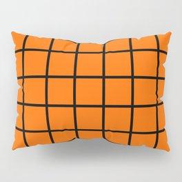 ORange and black cube Pillow Sham