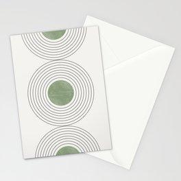 Fresh Pattern, Green Circle Stationery Cards