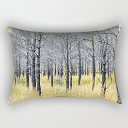Walking with trees Rectangular Pillow