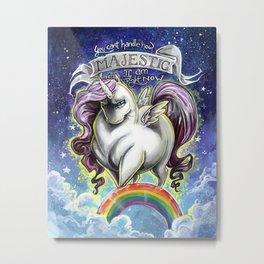 Majestic Unicorn Metal Print