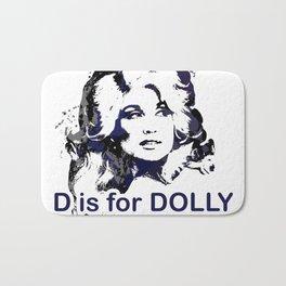 D is for Dolly Parton Bath Mat