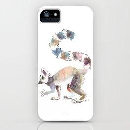 Splotchy Lemur iPhone Case