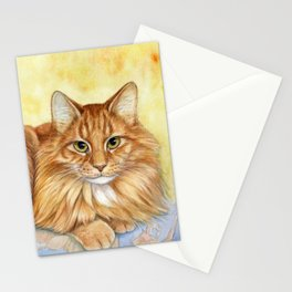 Ginger Cats A085 Stationery Cards