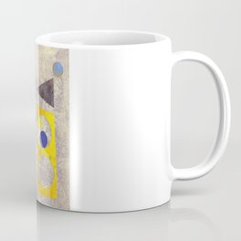 Atomic 50s 60s Inspired Retro Collage Abstract Pink Coffee Mug