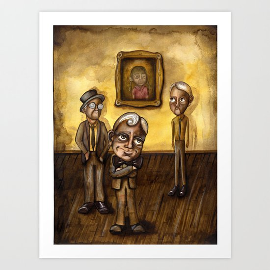 The Three Art Print