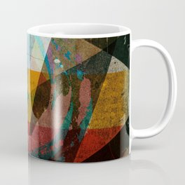 Abstract symbolic geometric composition Coffee Mug