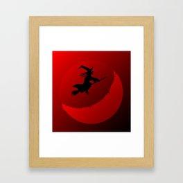 Hallowen Moon Framed Art Print
