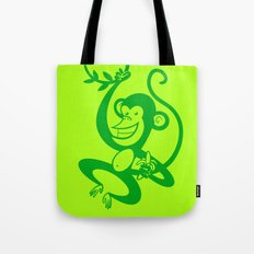 Green Monkey Tote Bag