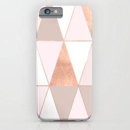 GEO TIKKI - ROSEGOLD PASTEL iPhone Case
