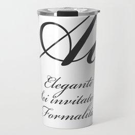 Classificazione: Corsivi Formali Travel Mug