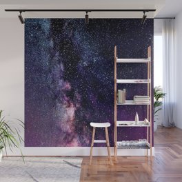 The Milky Way Midnight Blue & Purple Wall Mural