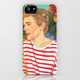 Flower Boy Isak iPhone Case