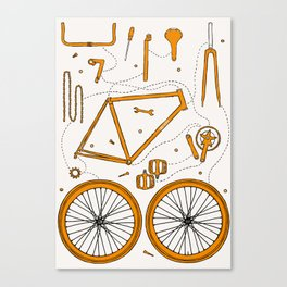 BIKE PARTS Canvas Print