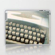 Blue Typewriter TTV Laptop & iPad Skin