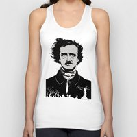 edgar allen poe Tank Tops featuring POE by Eric Thorpe-Moscon Designs