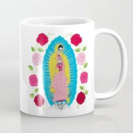 Skull Virgin of Guadalupe_ Hand embroidered Coffee Mug