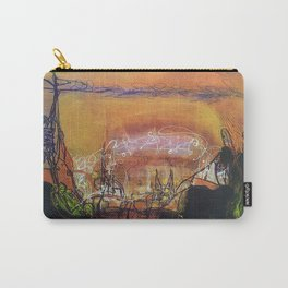 Sin City - Mixed Media Acrylic Abstract Modern Art, 2010 Carry-All Pouch