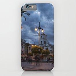Sundown, Plaza Mayor Merida Spain iPhone Case
